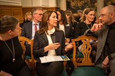 Crown Princess Mary of Denmark attended a conference to promote women's rights in the company Corporate Social Responsibility (CSR) on February 25, 2015 in the palace of Christiansborg