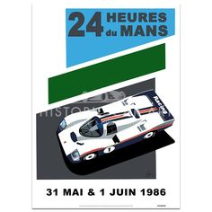 SPEED ICONS: Le Mans 24 Hours 1986   Porsche   Poster