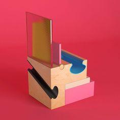 100 visuals on friday at @casa_a. #stilllife #cgi #colors #woord #blocks #art #artdirection #design #pitchzine @pitch_zine