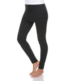 Another great find on #zulily! Black Skirted Leggings #zulilyfinds