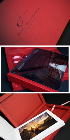 #Youngbook with #crystalglance #cover and #red #leather crated for #keazphotography . #graphistudio #weddingphotography #design