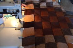 A leather quilt cannot be held together without Getta Grip Clips! We have made so much leather clothing over the years that there is a bonanza of scrap left. Cutting them up into squares makes them a heavyweight quilt that is perfect for colder climates. I back it with flannel or satin and bind it with leather. The Clips are perfect for holding on bindings. Then, snuggle in.....