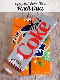 Creative Itch: Upcycled Soda Box Pencil Cases