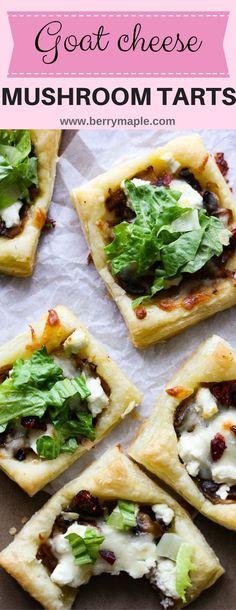 Goat cheese mushroom tarts - BerryMaple