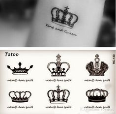 female tattoo on sale at reasonable prices, buy Small Crown Angel Wings Cat Pattern Temporary Tattoo Stickers Waterproof Women KIds Transferable Colorful Female Tattoos from mobile site on Aliexpress Now! Diamond Tattoos, Ring Tattoos, Star Tattoos, Body Art Tattoos, New Tattoos, Tattoos For Guys, Tattoos For Women, Female Tattoos, Crown Tattoo Men