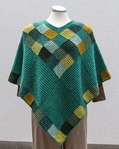 Billedresultat for garnkits fra perlestrik Knitted Poncho, Knitted Shawls, Crochet Shawl, Knit Crochet, Poncho Knitting Patterns, Shawl Patterns, Poncho Shawl, Cardigan, Garter Stitch