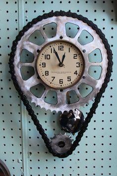 I just wanna ride my motorcycle wall clock. $150.00, via Etsy.