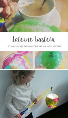 Laterne basteln mit Kleinkindern // DIY Making lantern with children – the ultimate guide to a balloon lantern. These lanterns can make even the smallest ones easy. Balloon Lanterns, Balloons, Mothers Day Crafts For Kids, Diy For Kids, Diy Ballon, Diy Niños Manualidades, Diy Crafts To Do, Fall Crafts, Decor Crafts