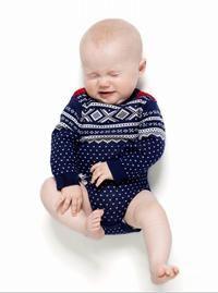 """Marius body i norsk strik fra mærket """"Ugly childrens clothing"""""""
