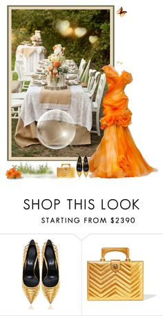 """""""Touch of Orange Wedding"""" by leegal57 ❤ liked on Polyvore featuring Gucci and Lipsy"""