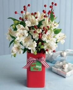 Blanc et rouge typiques pour Noël