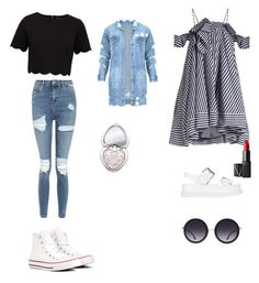 """""""Geen titel #107"""" by nadiraazat on Polyvore featuring Ted Baker, Topshop, Converse, Too Faced Cosmetics, MSGM, STELLA McCARTNEY, NARS Cosmetics en Alice + Olivia"""