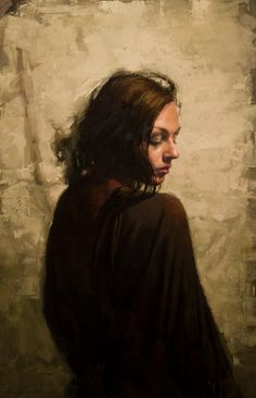 """Jeremy Mann, """"Untitled (For Now),"""" 2013, oil on panel, 28 x 18 1/2 in"""