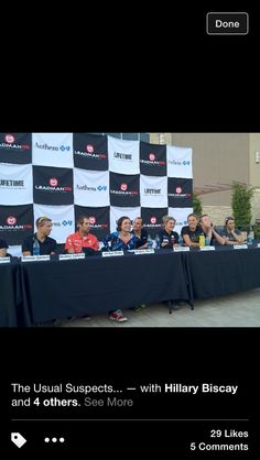 Pro press conference for Leadman tri