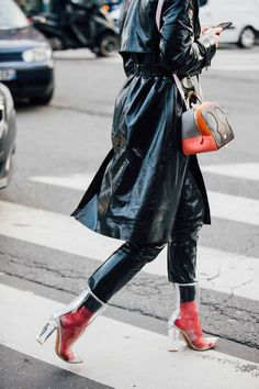 Colourful outfit in shady weather