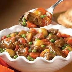 Hearty and comforting beef stew with veggies.