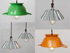 Flaneras, escurridores, cualquier útil de cocina es bueno para utilizarlo como lámpara en tu cocina #Amica #inteligentnystyl www.amica.com.pl