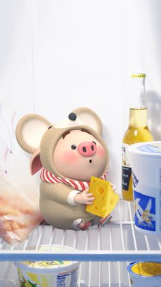 Pig Wallpaper, Funny Phone Wallpaper, Cute Disney Wallpaper, Cute Cartoon Wallpapers, Kawaii Wallpaper, This Little Piggy, Little Pigs, Kawaii Pig, Cute Piglets