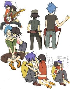 Noodle and cute! Not a ship! Elle Fanning, 2d And Noodle, Gorillaz Noodle, Gorillaz Fan Art, Demon Days, Pokemon, Beautiful Voice, Film Serie, Lol