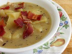 Potato Soup with Bacon | The Gluten-Free Homemaker. ☀CQ #glutenfree http://www.pinterest.com/CoronaQueen/gluten-free/