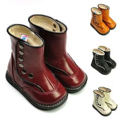 Amazon.com: Squeaky Boots, Dark Red, Snap Button Closure, Removable Squeaker [US 6 / EU 22]: Shoes