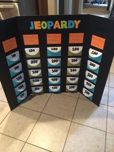 Diy jeopardy game board game boards gaming and board nursery rhyme jeopardy game using cute envelopes with index cards inside solutioingenieria Images