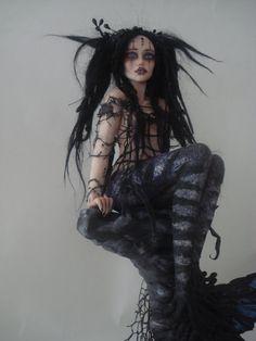 MERMAID goth fairy one of a kind art doll realistic sculpture fantasy polymer clay figurine Keka❤❤❤ Clay Fairies, Dark Fairies, Gothic Dolls, Mermaids And Mermen, Mermaid Dolls, Polymer Clay Dolls, Shooting Photo, Creepy Dolls, Little Doll