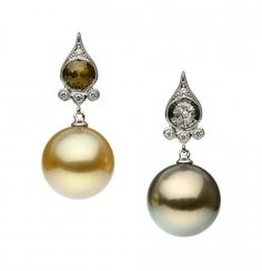 18k White gold, with South Sea pearls and diamonds.