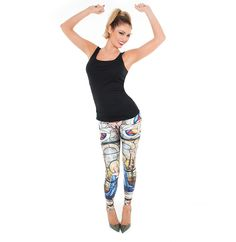 'Cathedral' leggings modelled by Chloe Sims