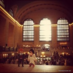Grand central terminal. So different from train station in France, and so lovely. // NYC.