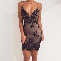 Sexy Deep-V Party Dress
