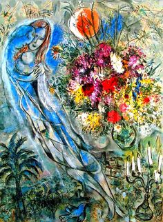 "Marc Chagall, ""Les Amoureux en Gris"" ~ Painting You With Words"
