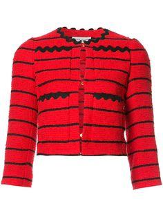 SONIA RYKIEL Striped Cropped Jacket. #soniarykiel #cloth #jacket