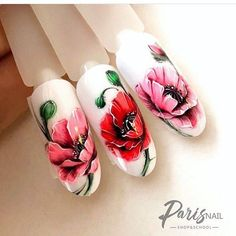 "If you're unfamiliar with nail trends and you hear the words ""coffin nails,"" what comes to mind? It's not nails with coffins drawn on them. It's long nails with a square tip, and the look has. Flower Nail Designs, Flower Nail Art, Nail Art Designs, Nails First, Nails Only, 3d Nail Art, Cool Nail Art, Spring Nails, Summer Nails"