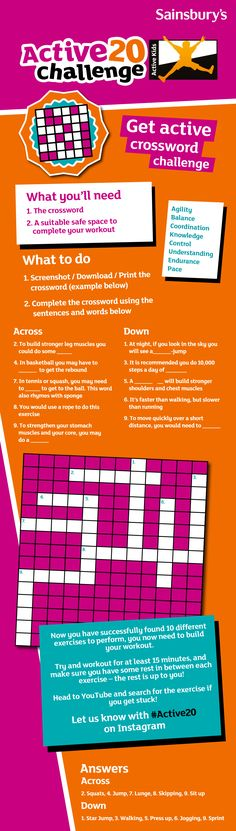 Today's challenge for your kids is all about getting active.  Do you know the benefits that being active and healthy can have? • Improving your fitness • Increase in concentration levels • Improving your academic progress and achievements • Builds a stronger heart, bones and healthier muscles Let us know how your kids get on by sharing on Instagram with #Active20 #Sainsburys Sainsburys, You Fitness, Muscles, Activities For Kids, Bones, Improve Yourself, Challenges, Heart, Instagram