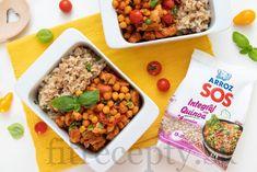 Morocký cícer s kuracím mäsom Quinoa, Chana Masala, Fried Rice, Tofu, Smoothie, Fries, Ethnic Recipes, Rice, Smoothies