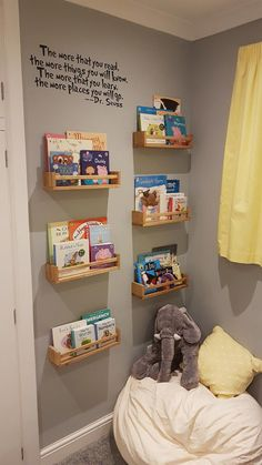 Kids Toy Room Decor the Ultimate Convenience! Kids Toy Room Decor the Ultimate Convenience! The Unexpected Truth About Kids Toy Room Decor Elect for a purple sofa for the living room should you want to make an aristocratic decor. In addition,. Baby Bedroom, Baby Room Decor, Girls Bedroom, Kid Decor, Room Baby, Reading Room Decor, Train Bedroom, Bedroom Toys, Reading Wall
