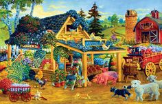 Fresh Fruits and Flowers Farm Jigsaw Puzzle