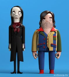 Amazing vinyl toys of Bill Murray, Mighty Boosh, IT Crowd, The Shining & Christopher Walken 3d Figures, Vinyl Figures, 3d Character, Character Concept, Art Jouet, Art Vinyl, It Crowd, Minis, Vinyl Dolls