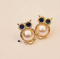 Dimensions: Length 1.3CM 0.8CM Very cute and beautiful owl earrings Whether it is to give yourself or to give a   friend is a good choice