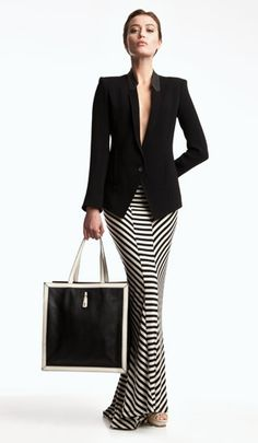 black + white maxi (love the bag too!!)