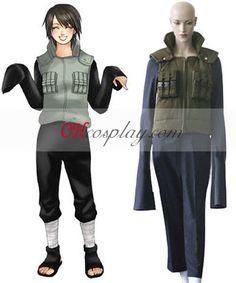 Naruto Shippuuden Shizune Jonin Battle Dress Cosplay Costume