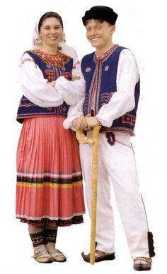 Carpatho-Rusyn, Lemko Komancha. Folk Costume