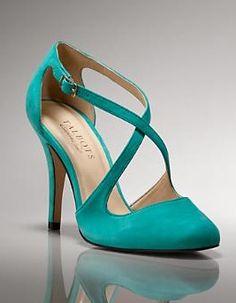 talbots teal heels