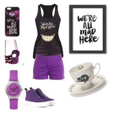 """""""We are all mad here"""" by kitm0 ❤ liked on Polyvore"""