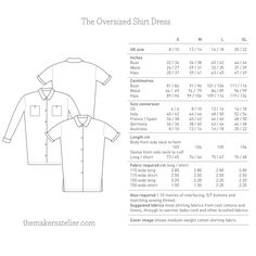 The Oversized Shirt Dress pattern