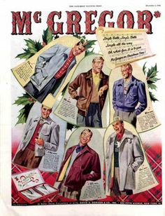 1948 Men's jackets and sports coats from McGregor. The Saturday Evening Post.