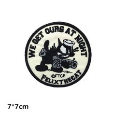 cartoon #patch cute #funny #patch Felix the cat #embroidered #patch iron on #patch s,  View more on the LINK: 	http://www.zeppy.io/product/gb/3/255742380/