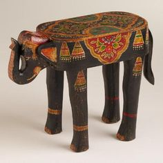 One of my favorite discoveries at WorldMarket.com: Painted Elephant Wood Accent Table