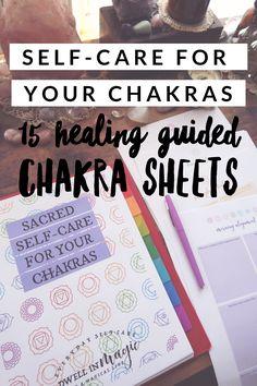 Beautiful guide and worksheet bundle for healing your chakras using self-care rituals Chakra Mantra, Chakra Meditation, Chakra Healing, Meditation Music, Mindfulness Meditation, Chakra Alignment, Chakra Crystals, Chakra Balancing, Blog Planner